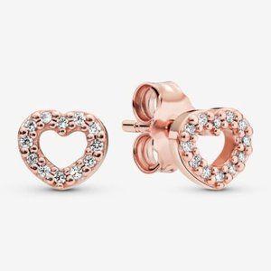 🔥Pandora🔥 Open Heart Stud Earrings
